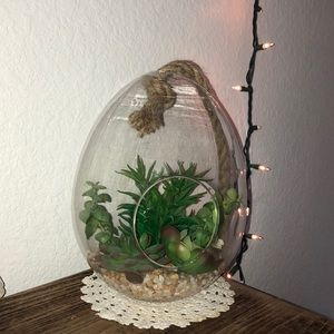 Other - Glass globe with fake succulents